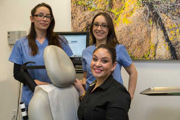 The Esthetics Team At Contour Dermatology and Cosmetic Surgery Center, Anne Marie,, Adriana, and Kylie