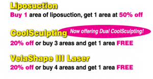 Liposuction, CoolSculpting, and VelaShape III are January Specials at Contour Dermatology