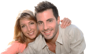 Happy Couple after he got a Neograft Hair Transplant