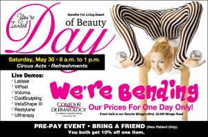 RSVP to Day of Beauty, May 30, 2015, at Contour Dermatology