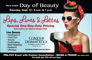 Lips, Lines, Lattes Day of Beauty, Benefiting Shelter from the Storm