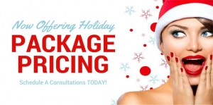 Just in time for the Holidays, special cosmetic package pricing!
