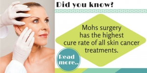 Mohs surgery has the highest cure rate of all skin cancer treatments!