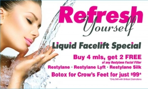 Restylane, Restylane Lyft, Restylane Silk and Botox are all on special in February 2016!