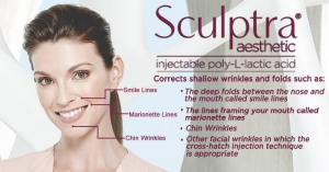 Sculptra, corrects shallow wrinkles and folds.