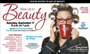 Come to Day of Beauty! September 17, 2016 Save Money!